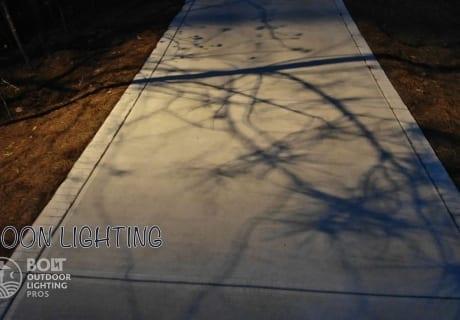 Moon Lighting Driveway
